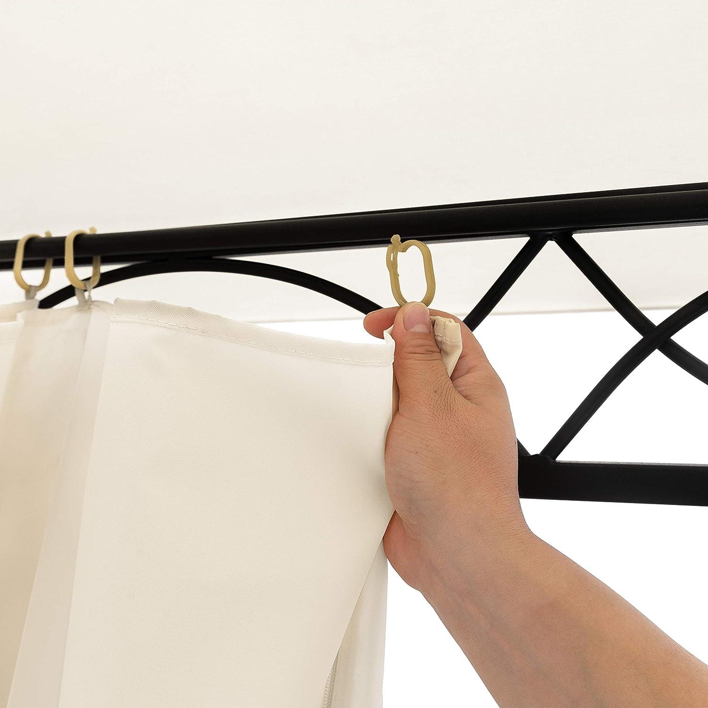 100/% Impermeabile TOOLPORT Gazebo da Giardino 3x3 m con 4 Teli Laterali 180g//m/² Telo del Tetto Color Crema