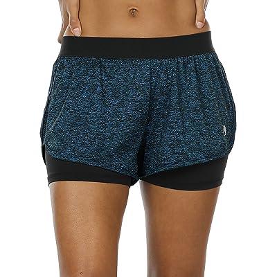 icyzone 2 en 1 Pantalón Corto para Mujer para Correr: Ropa y accesorios