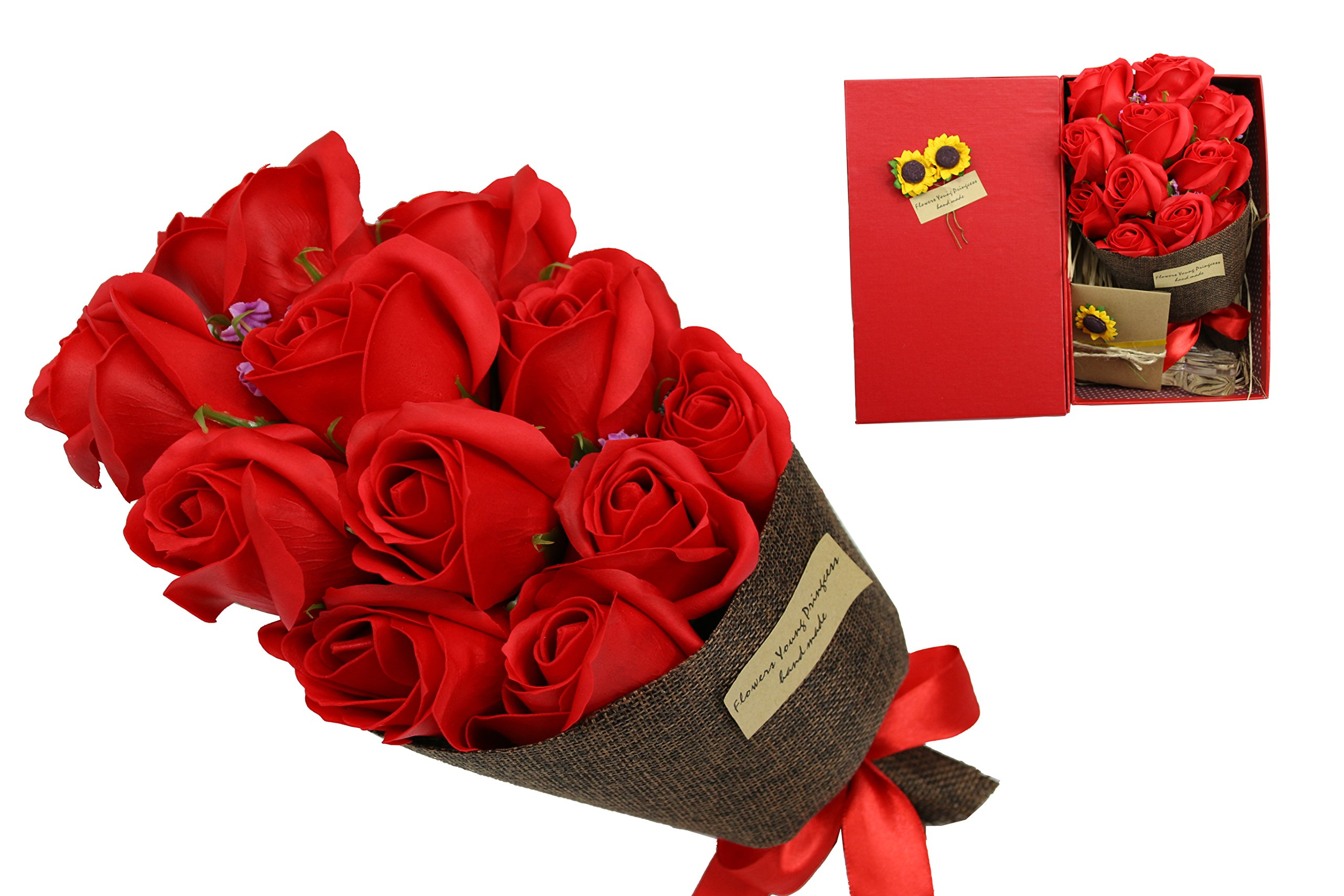 Red Rose Bouquet Flower Valentine\'s Day Gift Mother\'s Day ...