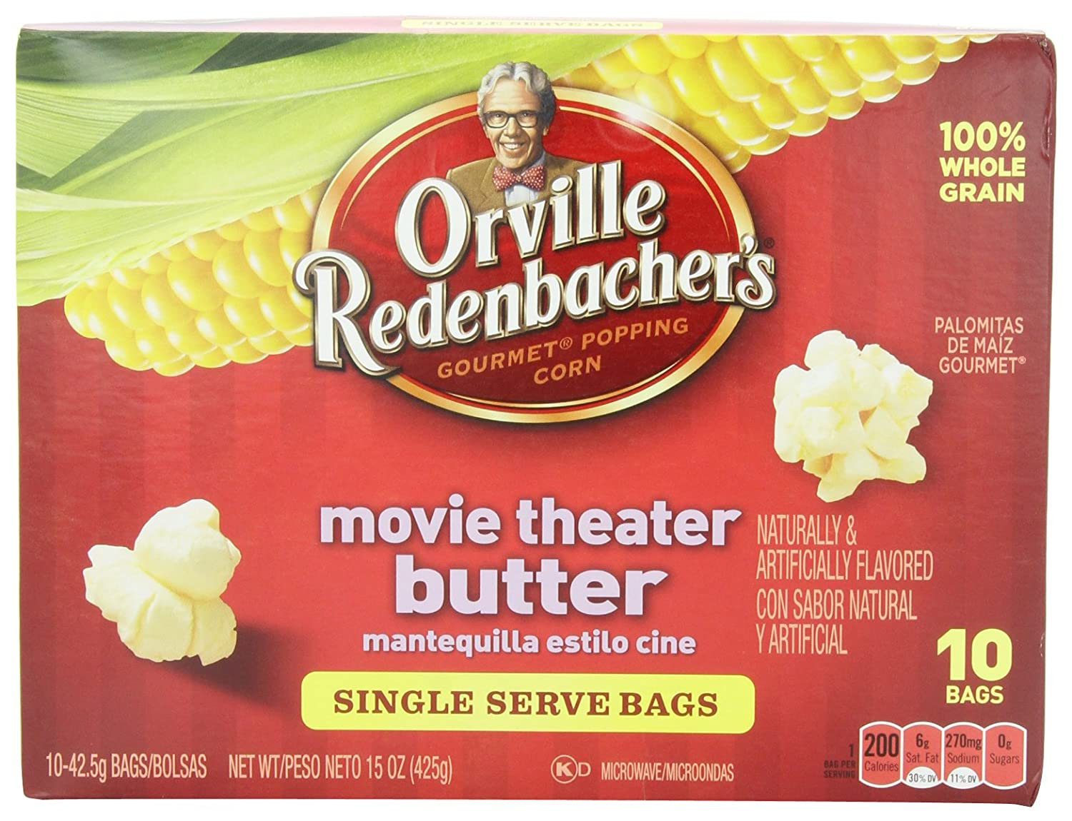 Orville Redenbacher Movie Theatre Butter Popcorn Mini Bags, 10-Count (Pack of 3)