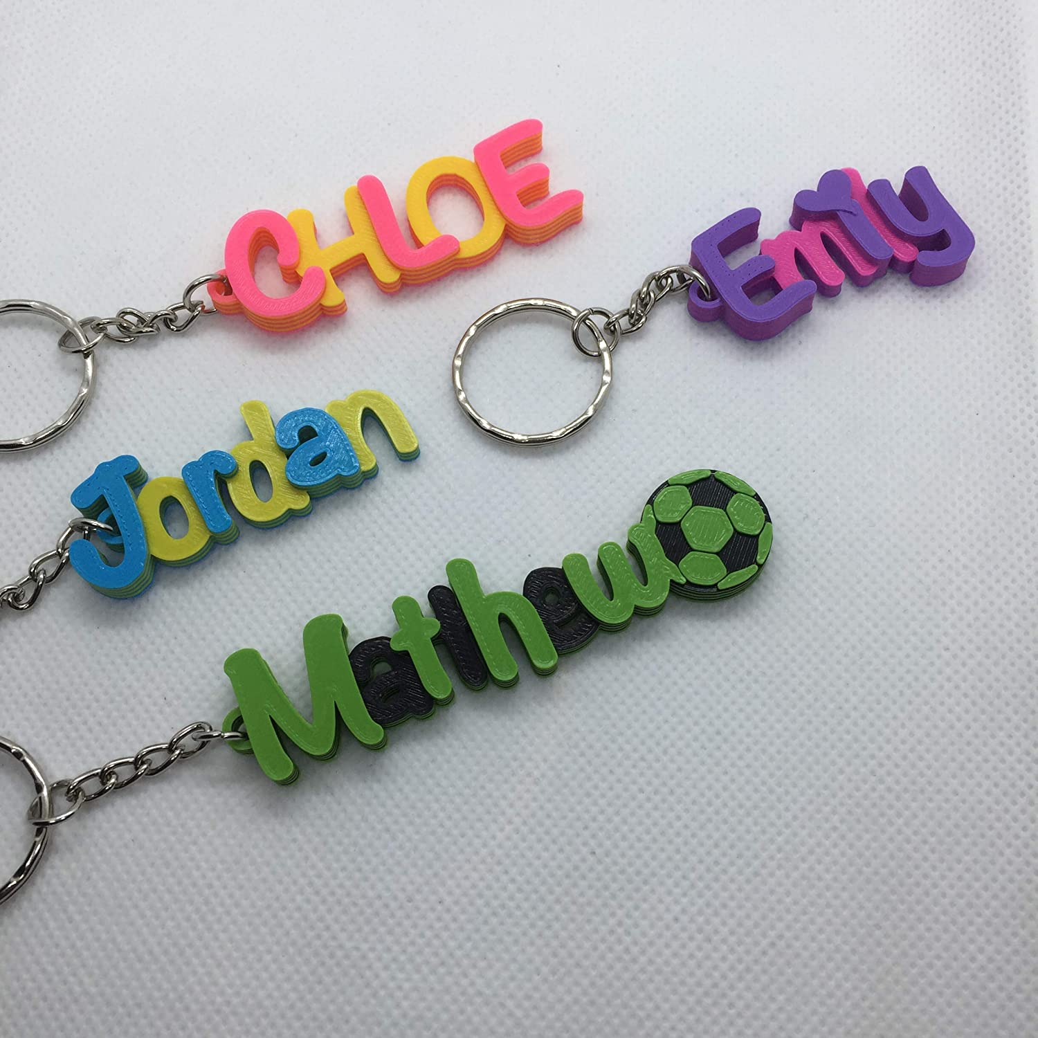 gifts under 5 unicorn keychain Multi-colour Personalised Keyring 3D printed keychain keychain favours