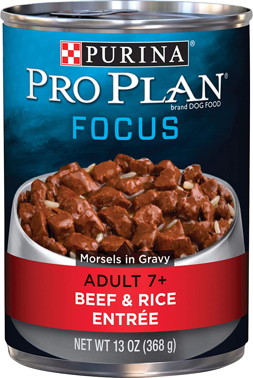 Purina Pro Plan Focus Adult 7+ Beef & Rice Entrée Morsels in Gravy