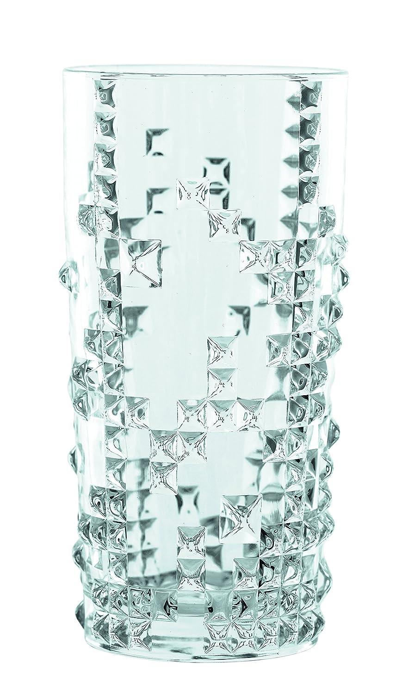 Juego de 4 vasos de 390ml con diseño muy original.