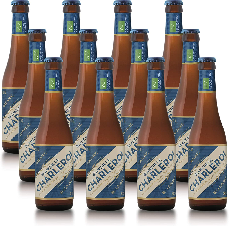 Blanche de Charleroi - Cerveza de trigo belga BIO - Pack de 12 Botellas 33cl