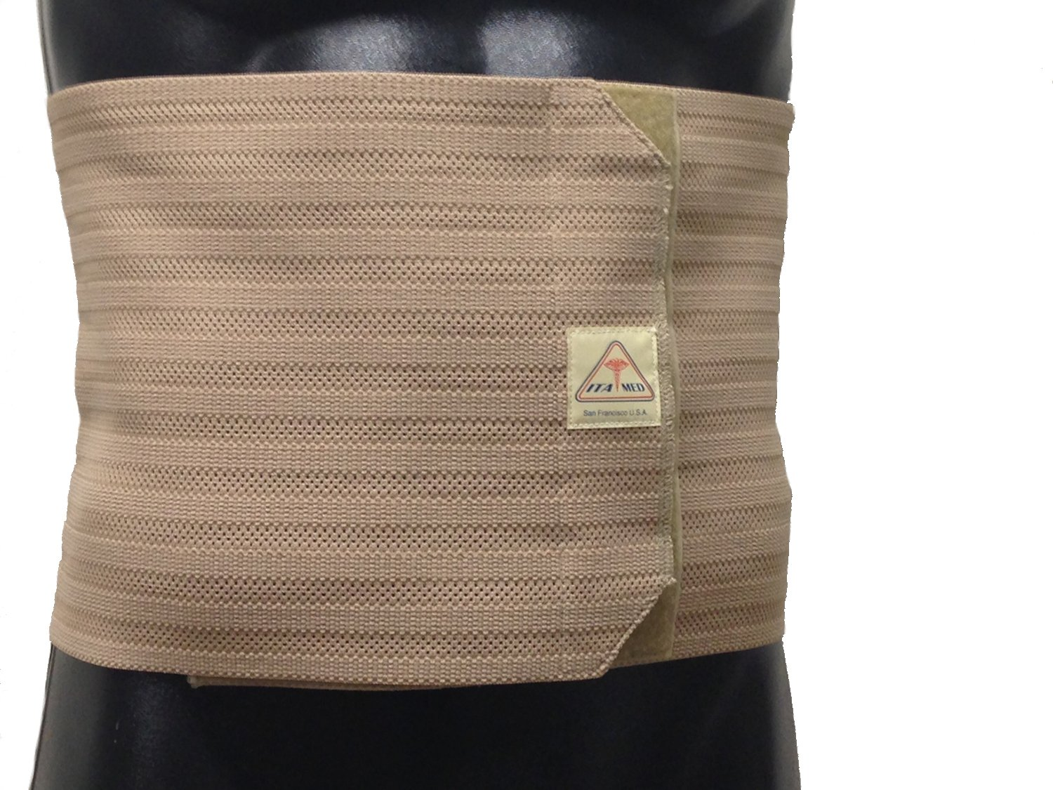 Breathable Elastic Abdominal Binder for Men Size: Small, Color: Beige by ITA-MED