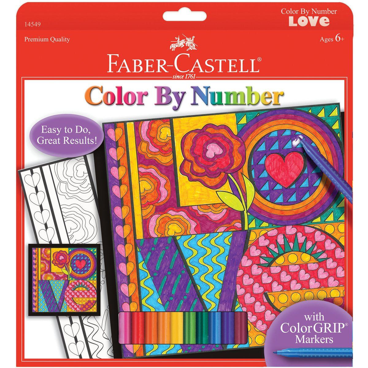 Faber-Castell - Color By Number Love Art Kit - Premium Kids Crafts