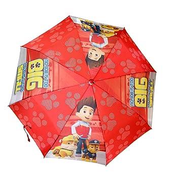 Desconocido Kids Licensing - Paraguas Plegable automático Rojo de La Patrulla Canina
