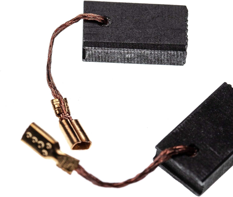 GWS 14-125 CE vhbw 2x balai de charbon pour moteur /électrique 5 x 10 x 17mm compatible avec Bosch GWS 14-125 C GWS 14-125 CI outil /électrique