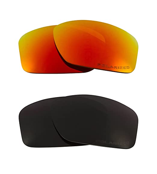 4a324995b3 New SEEK OPTICS Replacement Lenses Oakley VALVE - Polarized Black Red   Amazon.in  Clothing   Accessories