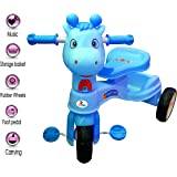 Sunbaby Baby Tricycle Kid's Trike with Basket Ride on Outdoor Suitable for Babies Boys & Girls-(1 to 5 Years) (Blue)