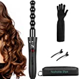 Curling Iron, 1'' Ceramic Bubble Curling Wand with Salon Toolkit Perfect gift for Women