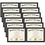 Icona Bay 8.5x11 (22x28 cm) Certificate Frames (Black, 12 Pack), Contemporary Diploma Frames 8.5 x 11, Composite Wood…