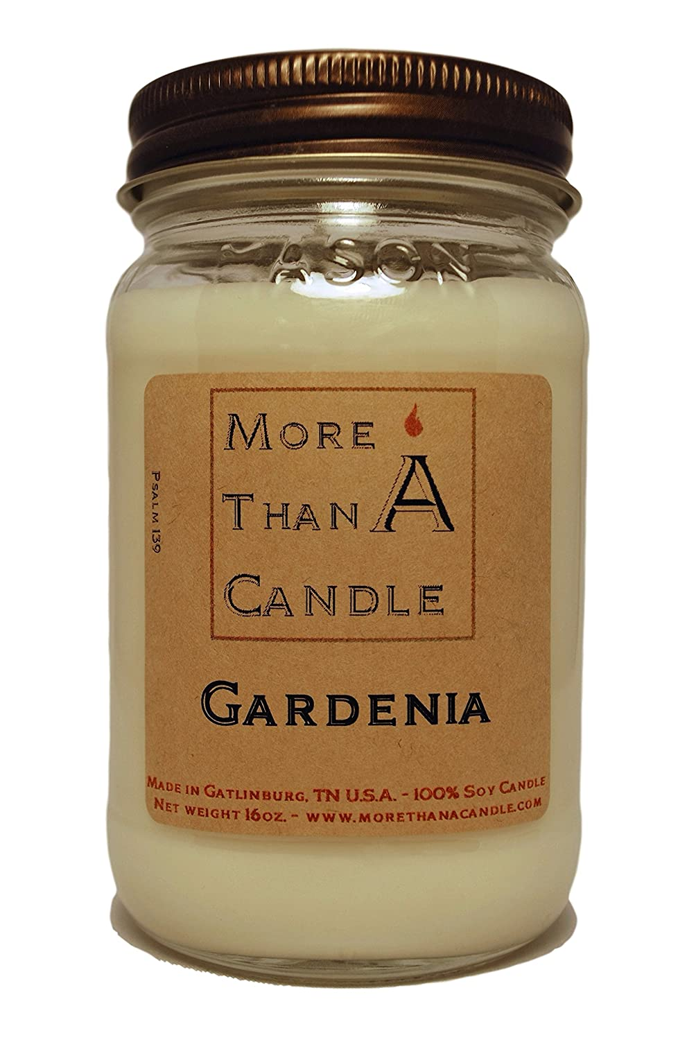 正規激安 More Than A Jar Gardenia A Candle GDA16M 16 oz Mason Jar Soy Candle, Gardenia B079QDBQ1B, ユキポート:857d1525 --- a0267596.xsph.ru