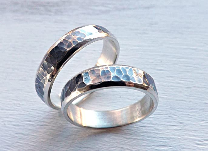 ring rings rustic hammered gold wedding styles bands york new
