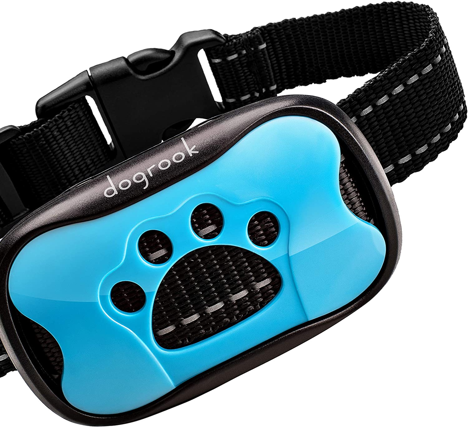 DogRook Rechargeable Dog Bark Collar - Humane, No Shock Barking Collar - w/2 Vibration & Beep Modes - Small, Medium, Large Dogs Breeds - No Harm Training - Automatic Action Without Remote - Adjustable : Pet Supplies