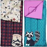 Ozark-Trail Kids Sleeping Bag Camping Indoor Outoor Traveling (Raccoon / Bear)