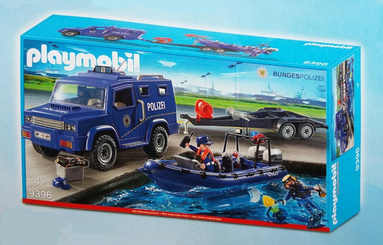 forma única Playmobil 9396 9396 9396 Federal Police - camión con lancha rápida  barato y de alta calidad