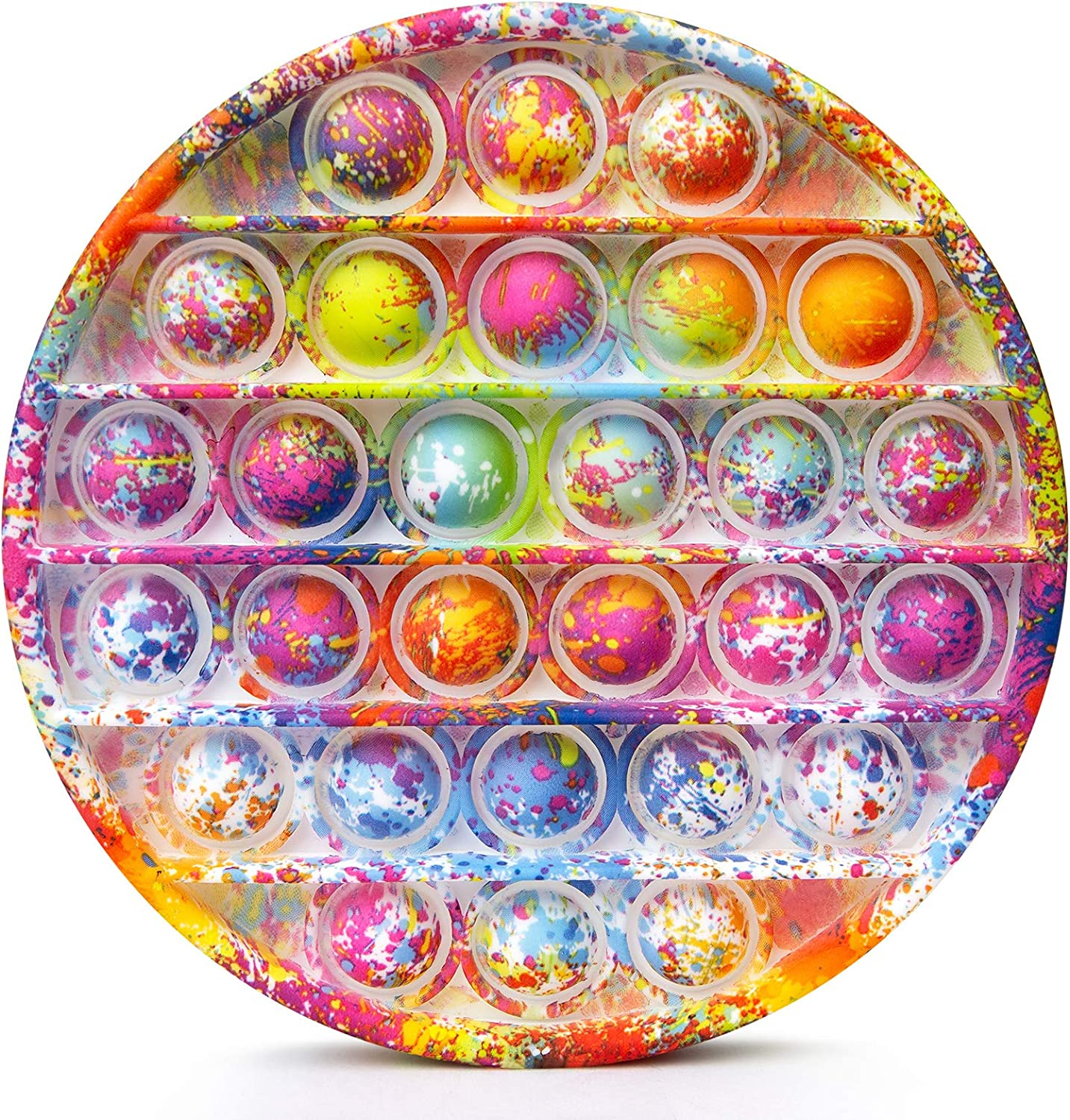 Oil Painting Bubble Sensory Fidget Toys for Autism Special Needs Stress Anxiety Relief Round Kakeedoo Push Pop It Fidget Toy