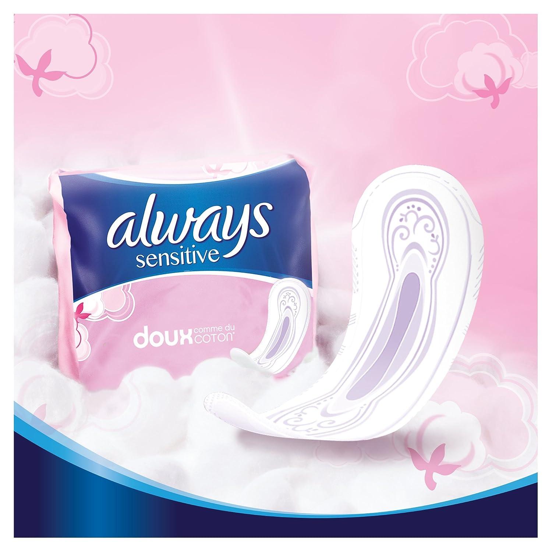 Always Sensitive Pack de 14 toallas femeninas normal - Pack de 3.: Amazon.es: Salud y cuidado personal