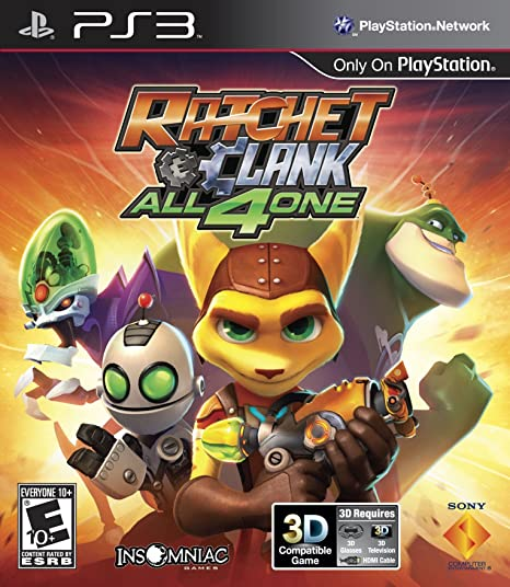 Amazon Com Sony Playstation 98175 Ratchet Clank All 4 One Ps3 Video Games