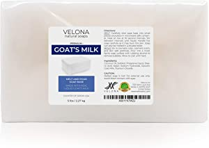 10 LB - Goats Milk Soap Base by Velona | SLS/SLES Free | Melt and Pour | Natural Bars for The Best Result for Soap-Making