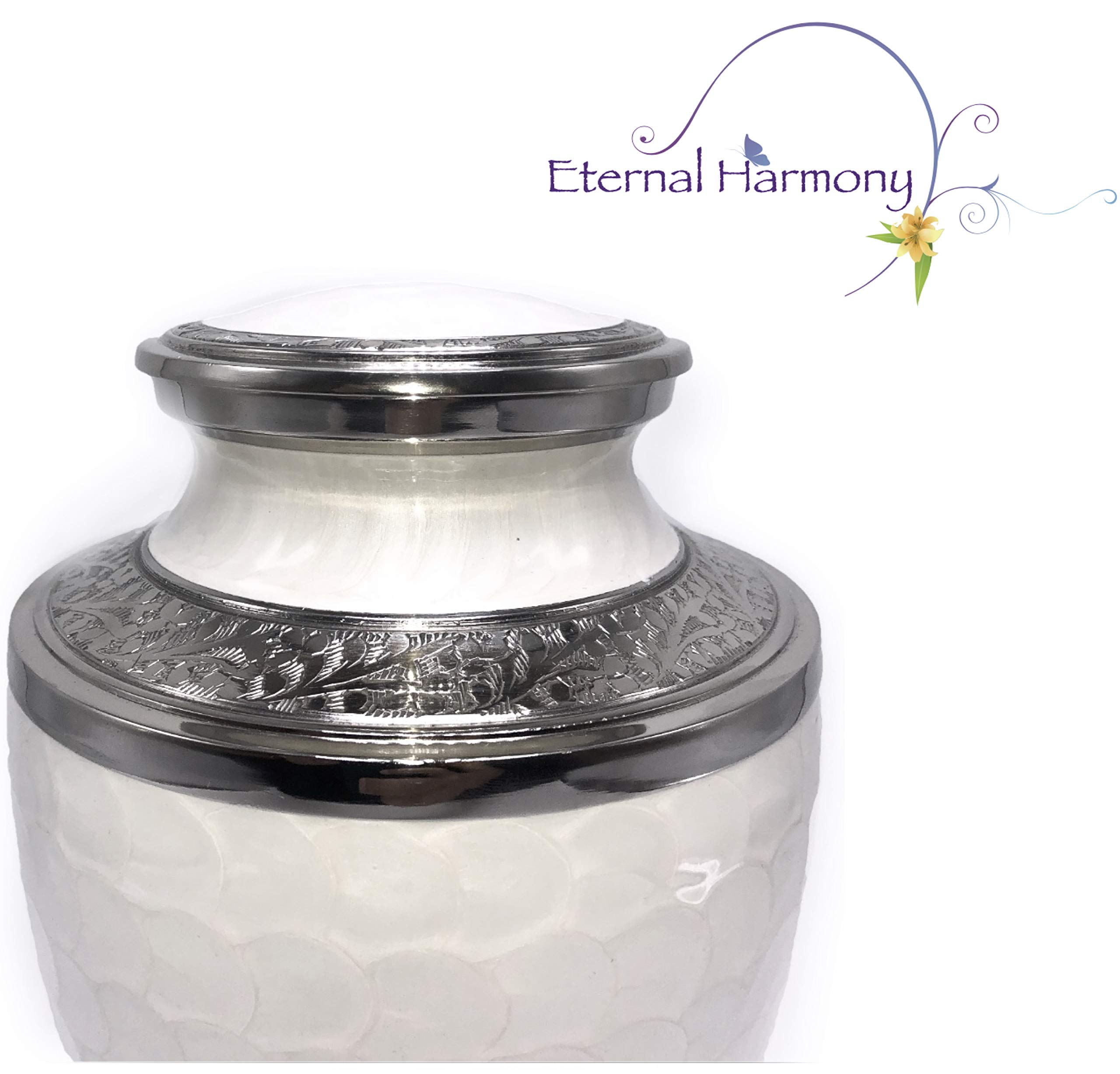 Eternal Harmony Cremation Urn for Human Ashes | Funeral Urn Carefully Handcrafted with Elegant Finishes to Honor and Remember Your Loved One | Adult Urn Large Size with Beautiful Velvet Bag by Eternal Harmony (Image #5)