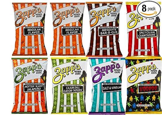 Zapp de patatas chips 5 oz (Variedad Pack de 8): Amazon.com ...