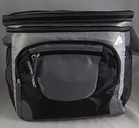 Ozark Trail 24-Can Cooler with Removable Hardliner Black Dry Storage Zippere New