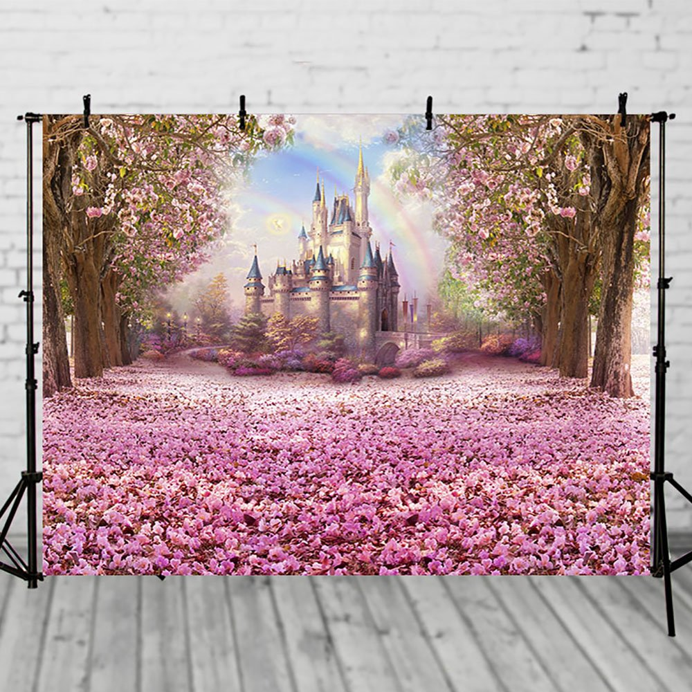 Amazon.com : COMOPHOTO Castle Fairy Tale Backdrops for Photography ...