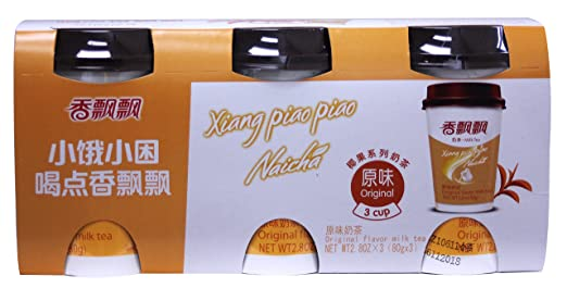 Amazon.com : 香飘飘原味奶茶 Xiang Piao Piao Naicha -original Flavor milk tea 2.8 oz - 3 cups : Grocery & Gourmet Food