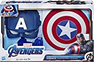 Marvel Avengers Captain America Action Armor Role-Play Set (Captain America Mask and Magnetic Shield Toy for Role Play)