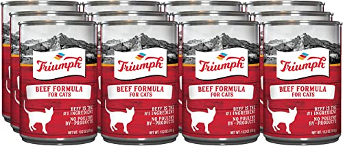 Triumph Beef Canned Cat Food, Case Of 12, 13 Oz.