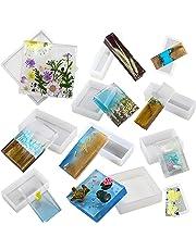 Musykrafties - Moldes cuadrados y rectangulares de resina geomátrica de silicona para hacer posavasos y diseño
