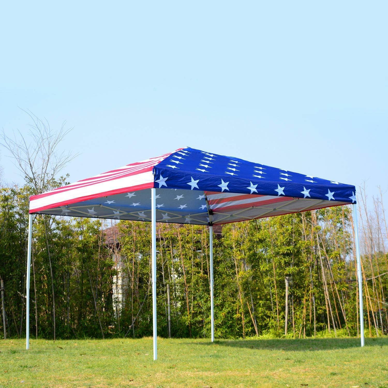 Hom-dis 10 x 10 EZ Pop Up Party Boda Tienda de campaña Patio Gazebo toldo Exterior Malla Bandera de Estados Unidos Bolsa: Amazon.es: Jardín