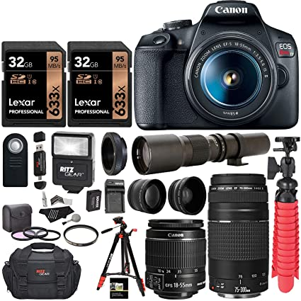 Canon EOS Rebel T7 DSLR Camera+ EF-S 18-55mm f/3.5-5.6 is II ...