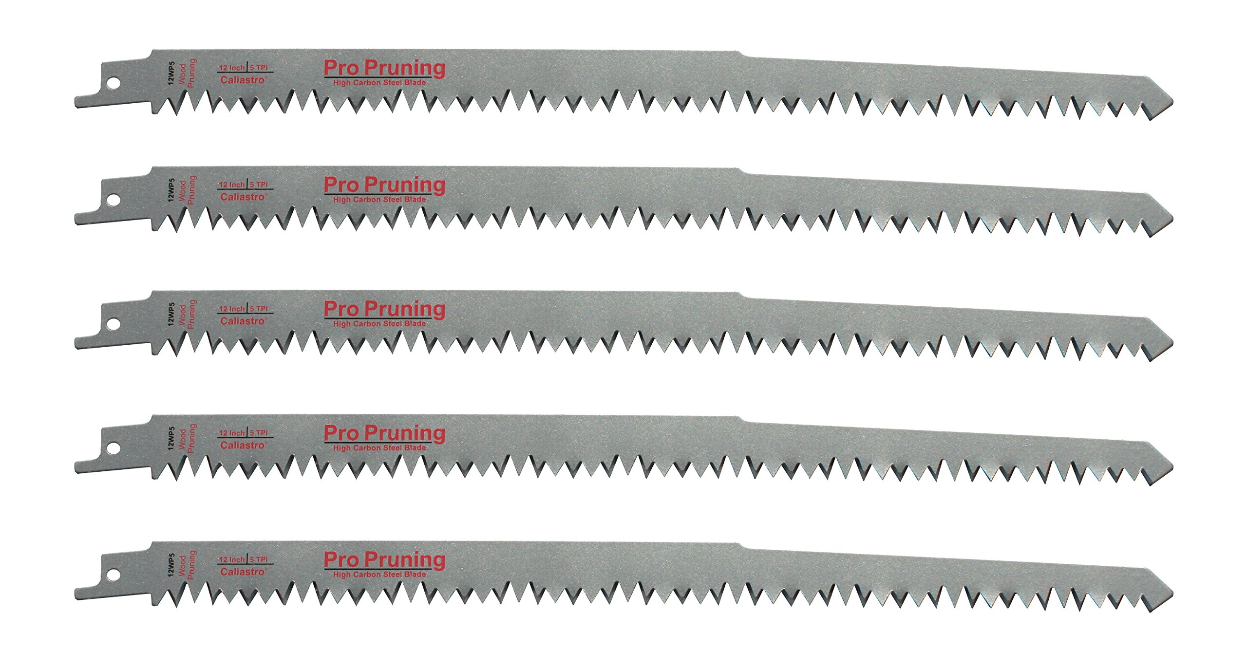 12-Inch Wood Pruning Reciprocating/Sawzall Saw Blades (5 TPI) - 5 Pack