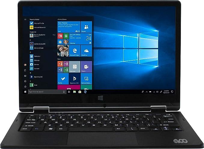 Amazon Com Evoo 11 6 Convertible Touchscreen Laptop Windows 10