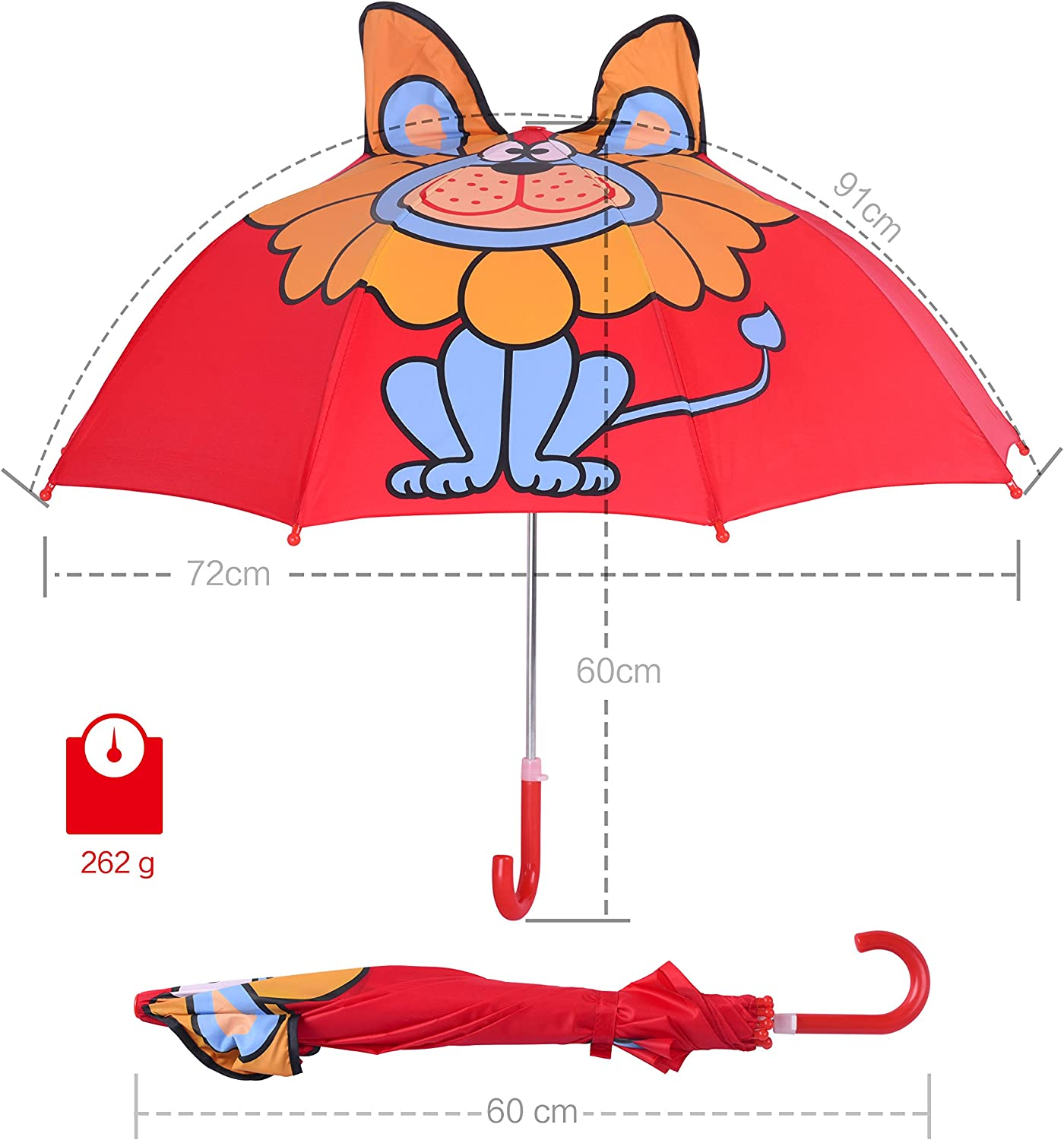 Animal Theme Building Toys Lion with 3D Ears for Toddlers Age 3 Rainbrace Kids Building Blocks Years Old Red