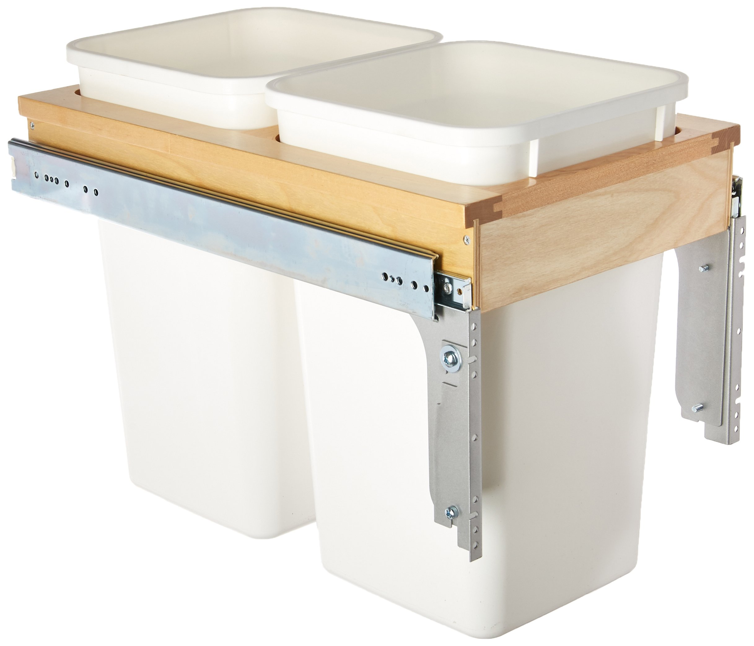 Rev-A-Shelf Dbl 27 QT Top Mount Waste Container, Natural by Rev-A-Shelf