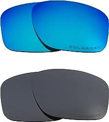 a7fc830e31 SLIVER Replacement Lenses Polarized Blue   Black Iridium by SEEK fits OAKLEY