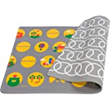 Lollaland Play Mat Foam Floor - Non-Toxic BPA-Free Non-Slip Reversible Waterproof - Gray