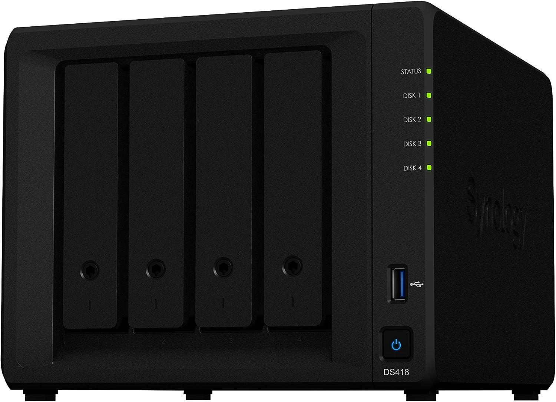 Synology DS418 16TB 4 Bay NAS Solución | Instalado con 4 x 4TB Seagate IrownWolf Drives