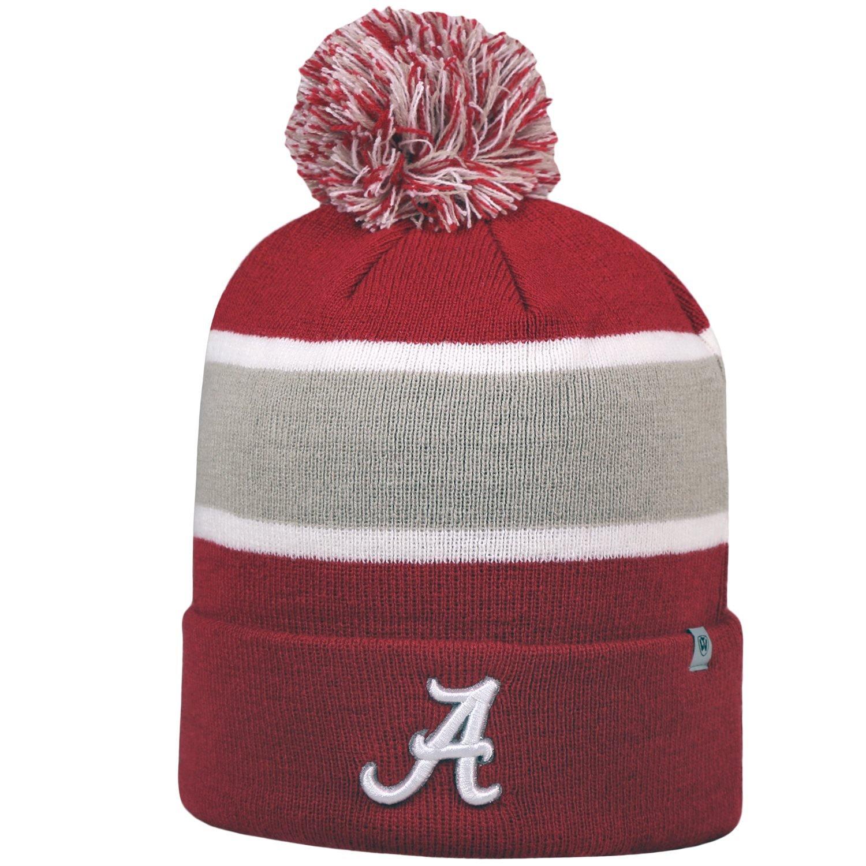 88bb6c516e9 Amazon.com   Alabama Crimson Tide Whirl Cuffed Pom Knit Beanie Hat   Cap    Sports   Outdoors
