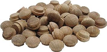 "3//8/"" Red Oak Wood Mushroom Head Furniture Buttons Hard Wooden Plugs 1000 Pcs"