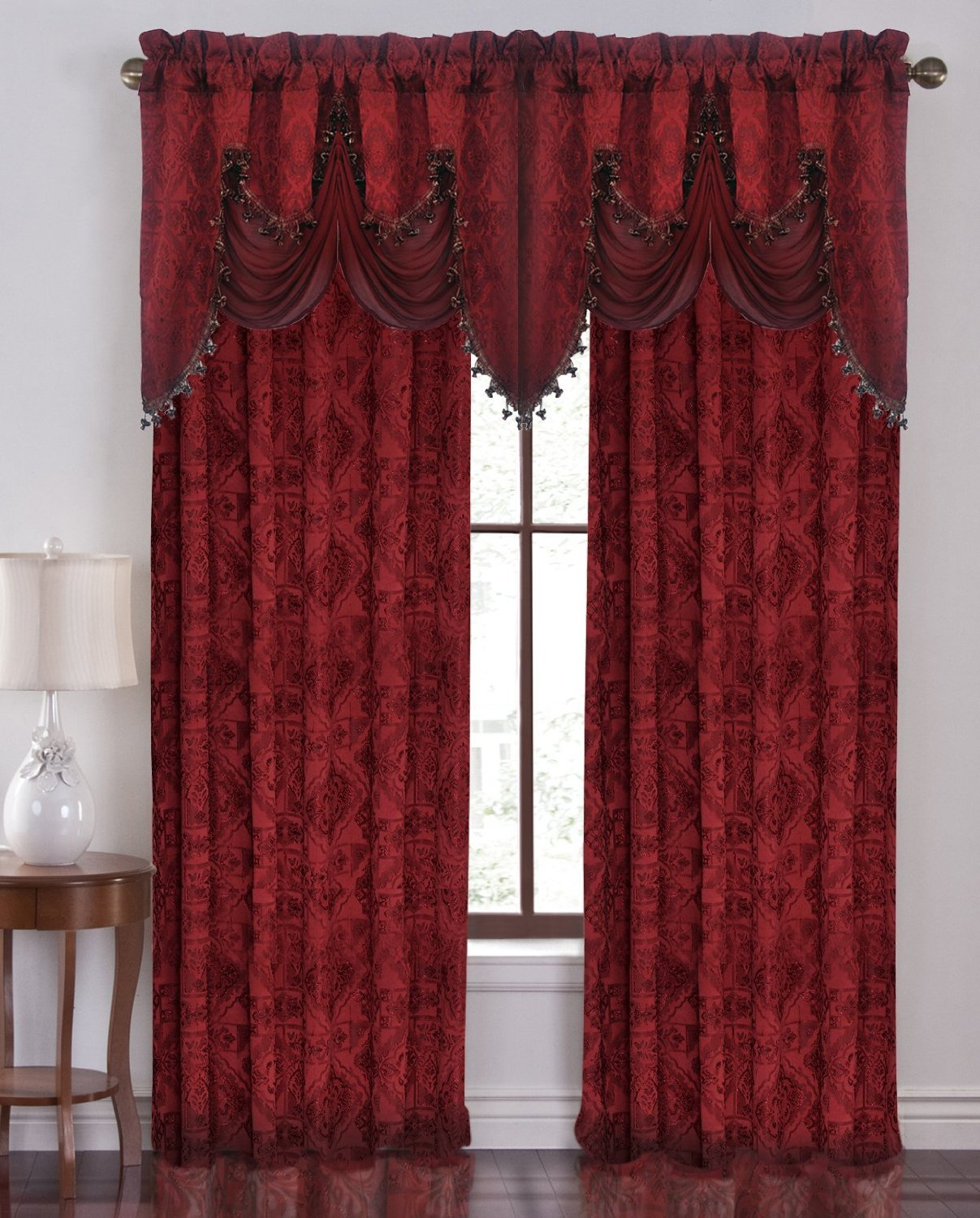 decor and chiffon window itm valance scarf tulle door valances drape new drapes voile sheer curtain