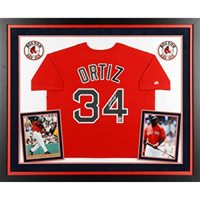 new style 763dd fb15f David Ortiz Boston Red Sox Deluxe Framed Autographed ...