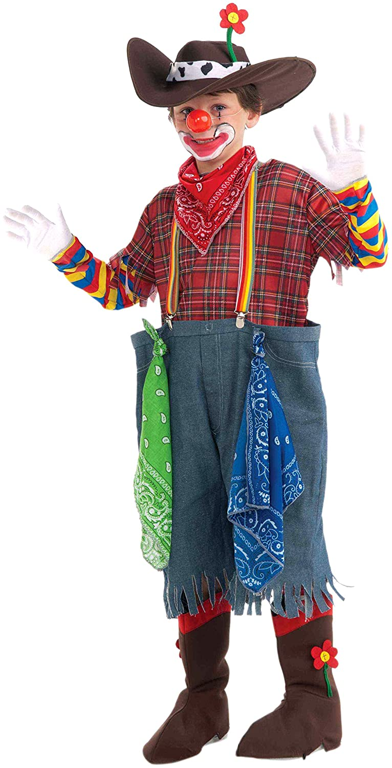 amazon com forum novelties rodeo clown complete costume child u0027s