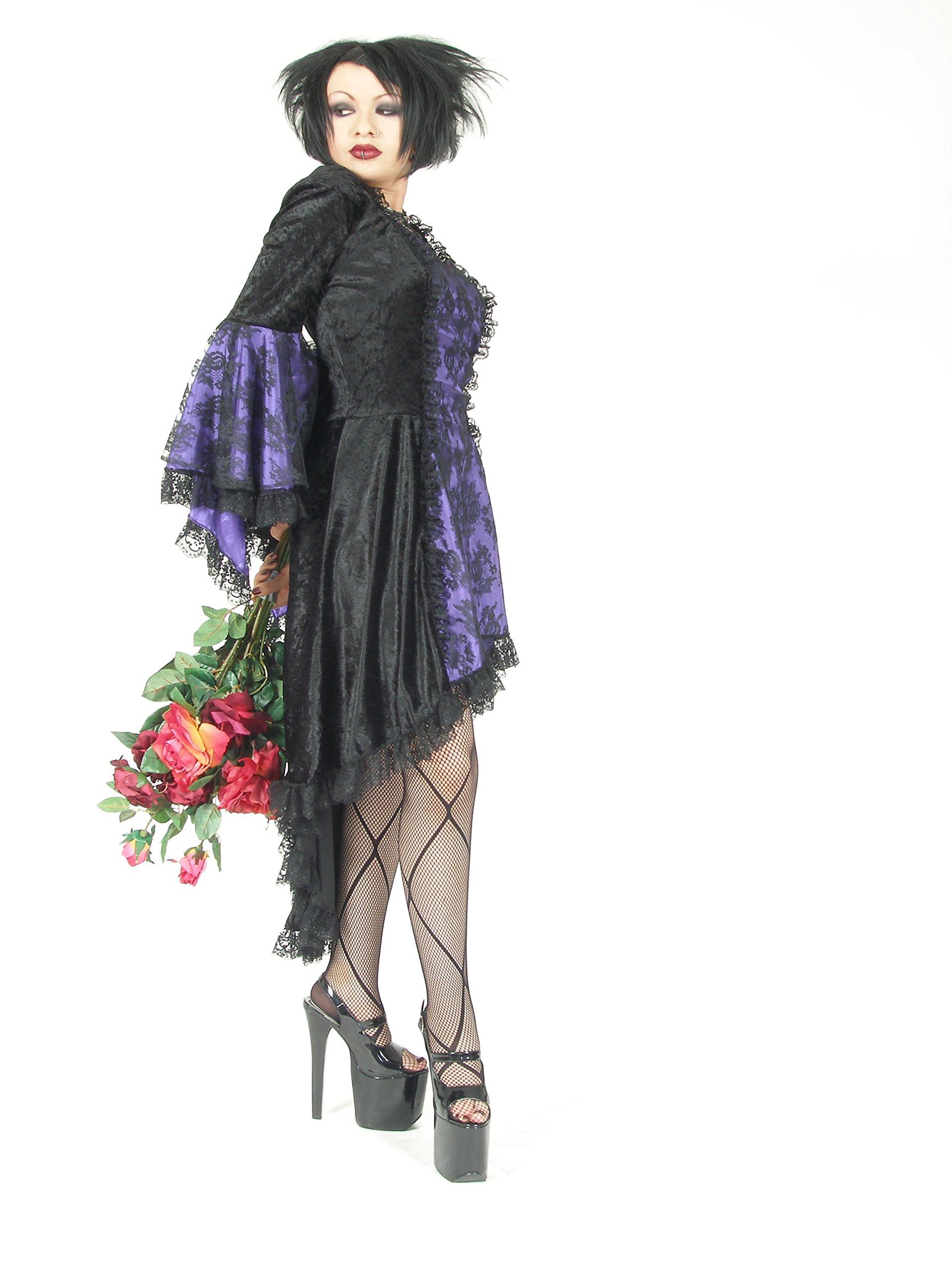Eternal Love Plus Size Black Violet Purple Gothic Gwendolyn Dress Taffeta Lace (5X)