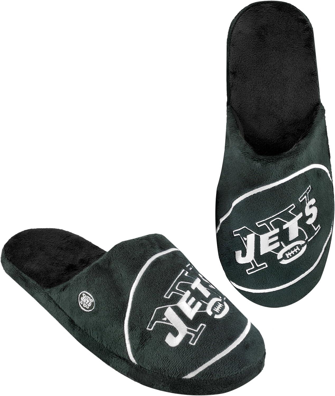 FOCO Men's NFL 2011 Big Logo Slipper TPR Sole : Clothing