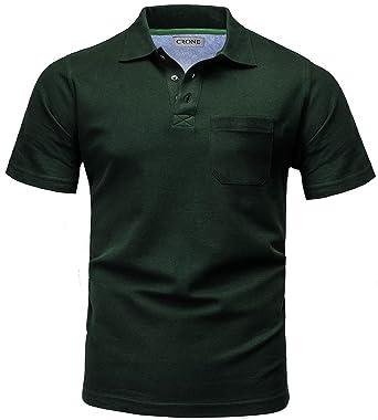 CRONE Basic Kurzarm Herren Pique Poloshirt Regular Fit mit Brusttasche   Amazon.de  Bekleidung a120c64cdf